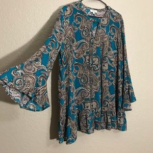 Umgee Women's Turquoise Dress Large - NWOT